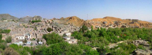 نمایی از غرب روستای خراشاد