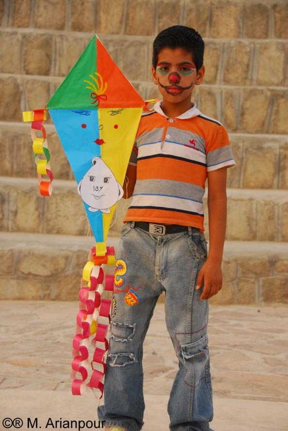 کودکی در جشنواره بادبادک ها - بیرجند