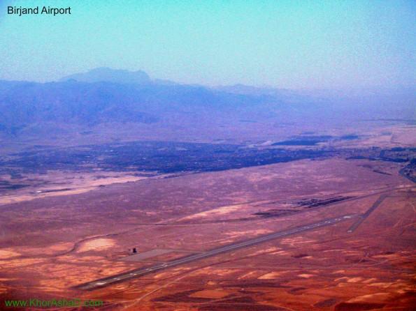 تصویر هوایی فرودگاه بیرجند در شمال شهر بیرجند