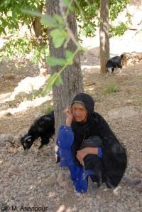 پیرزنی از اهالی چنشت