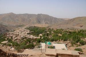 نمای کلی روستای چنشت
