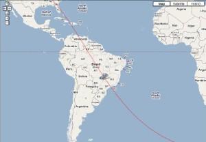 مسیر �رکت امید به سمت قطب جنوب