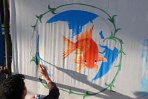 نقاشی گروهی از هنرمندان استان خراسان جنوبی به مناسبت آغاز سال نو